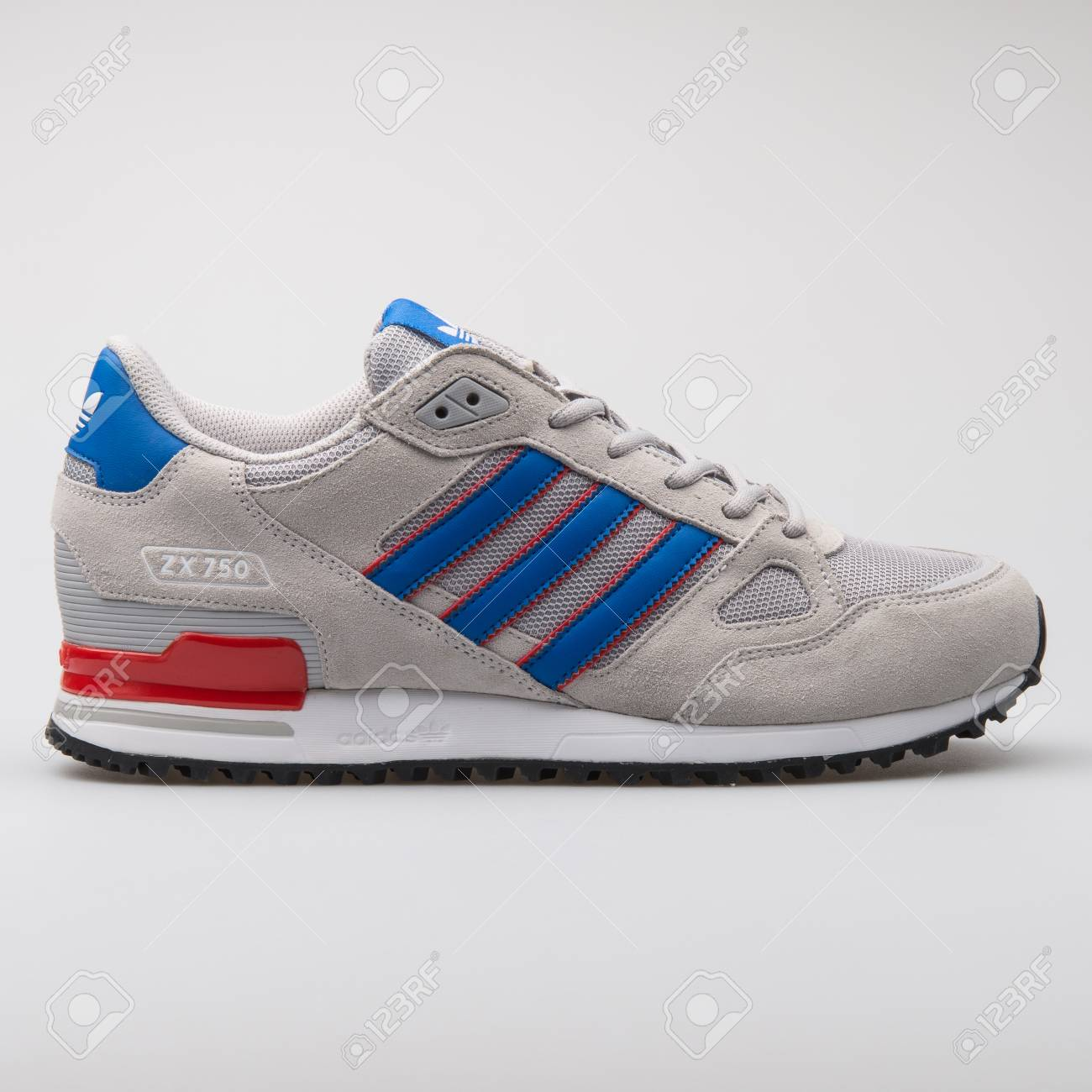 more photos 5f1af 080c1 VIENNA, AUSTRIA - AUGUST 7, 2017: Adidas ZX750 grey, blue and..
