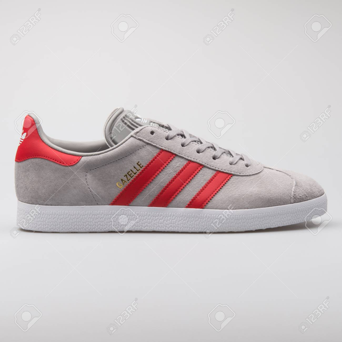 Adidas Gazelle Grey And Red.. Stock