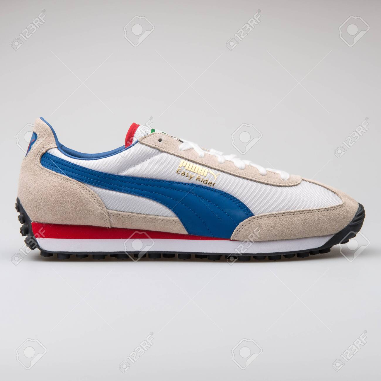 VIENNA, AUSTRIA - AUGUST 7, 2017: Puma Easy Rider white, blue..