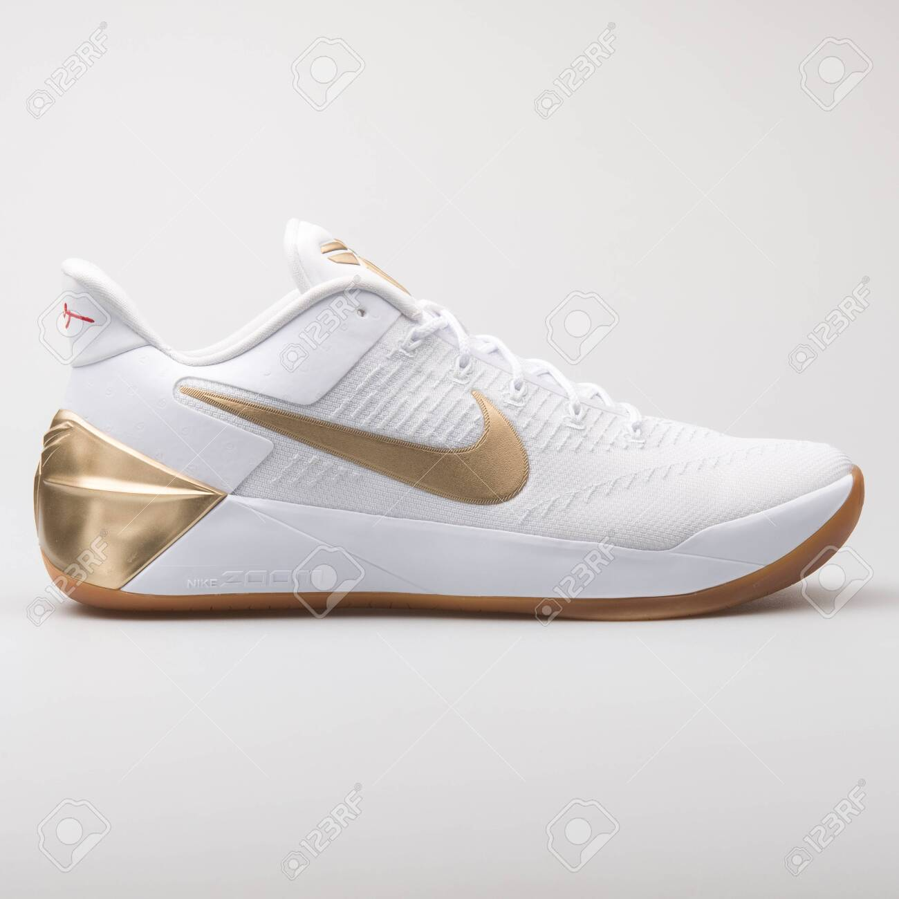 info for 30b8b 3cb1c VIENNA, AUSTRIA - AUGUST 7, 2017: Nike Kobe A.D. white and gold..