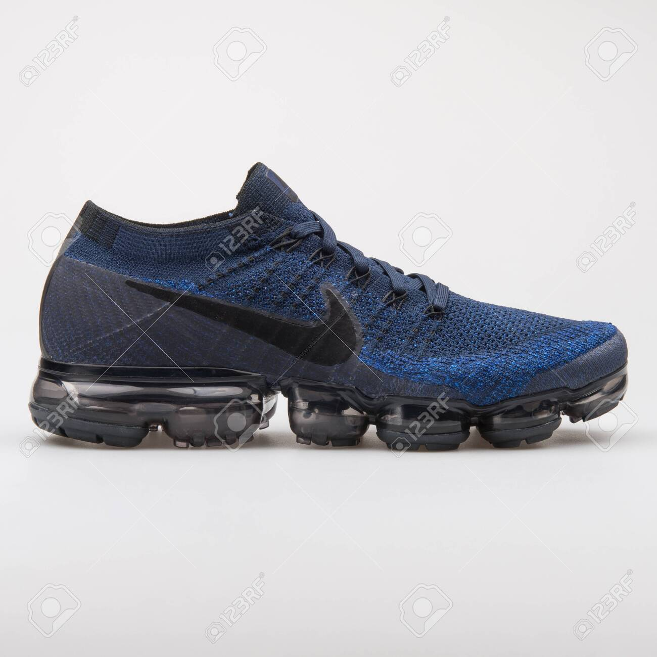 best loved 66bfd cb02d VIENNA, AUSTRIA - AUGUST 7, 2017: Nike Air Vapormax Flyknit blue..
