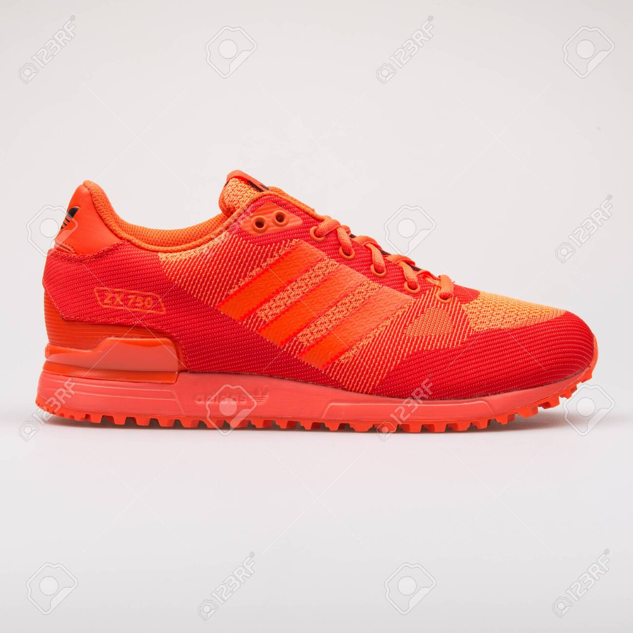 low priced ffac2 51eb1 VIENNA, AUSTRIA - AUGUST 28, 2017: Adidas ZX 750 WV solar red..