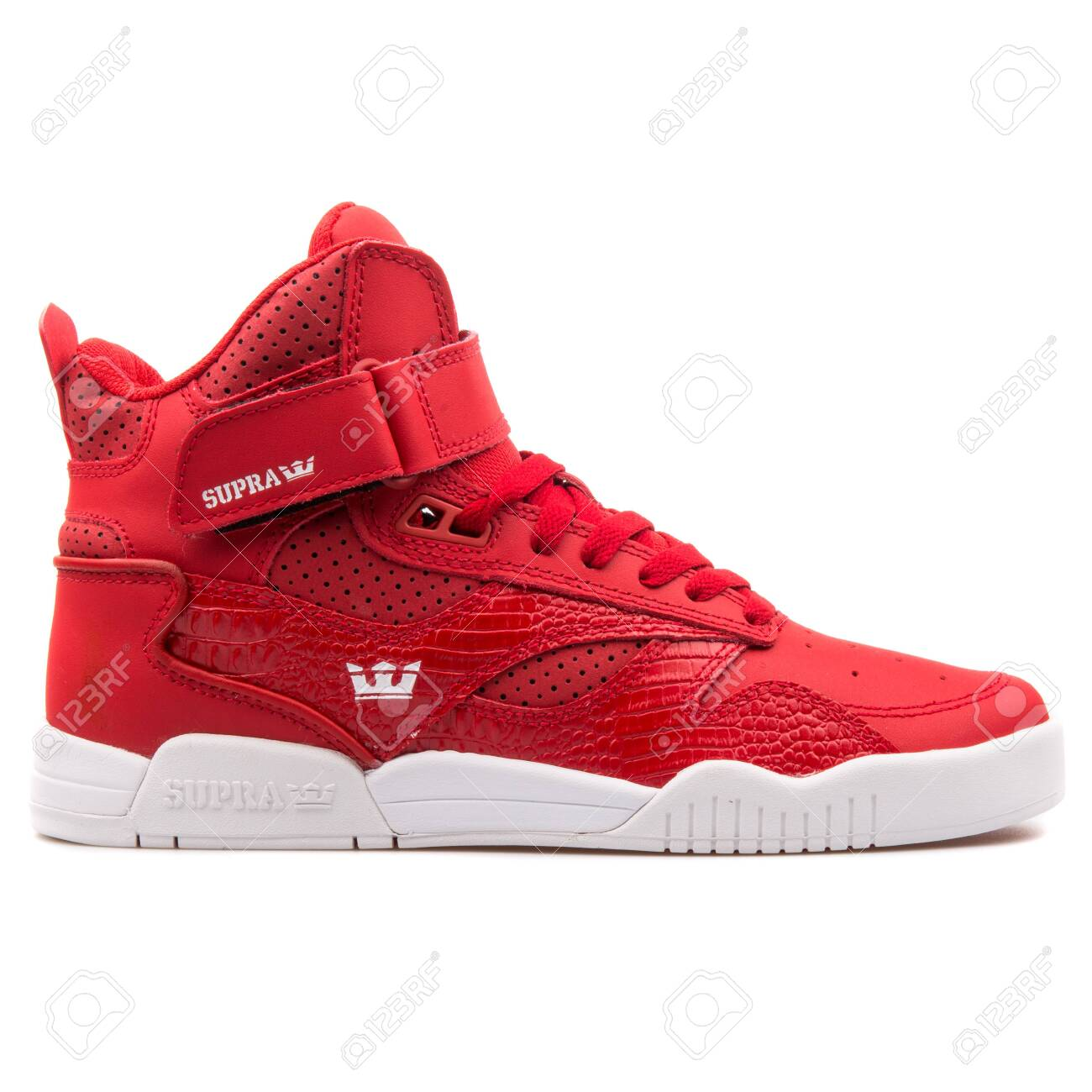 Supra Bleeker Red And White.. Stock