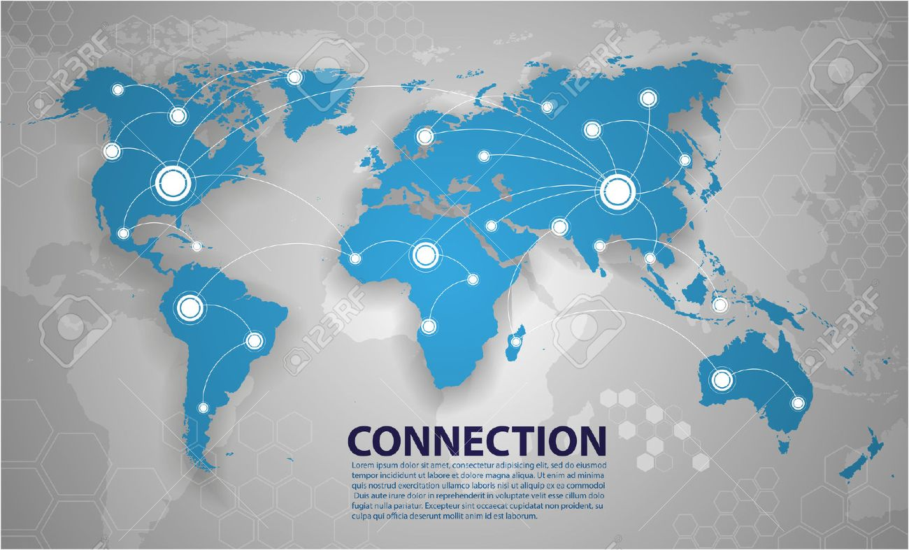 World map connection royalty free cliparts vectors and stock vector world map connection gumiabroncs Images