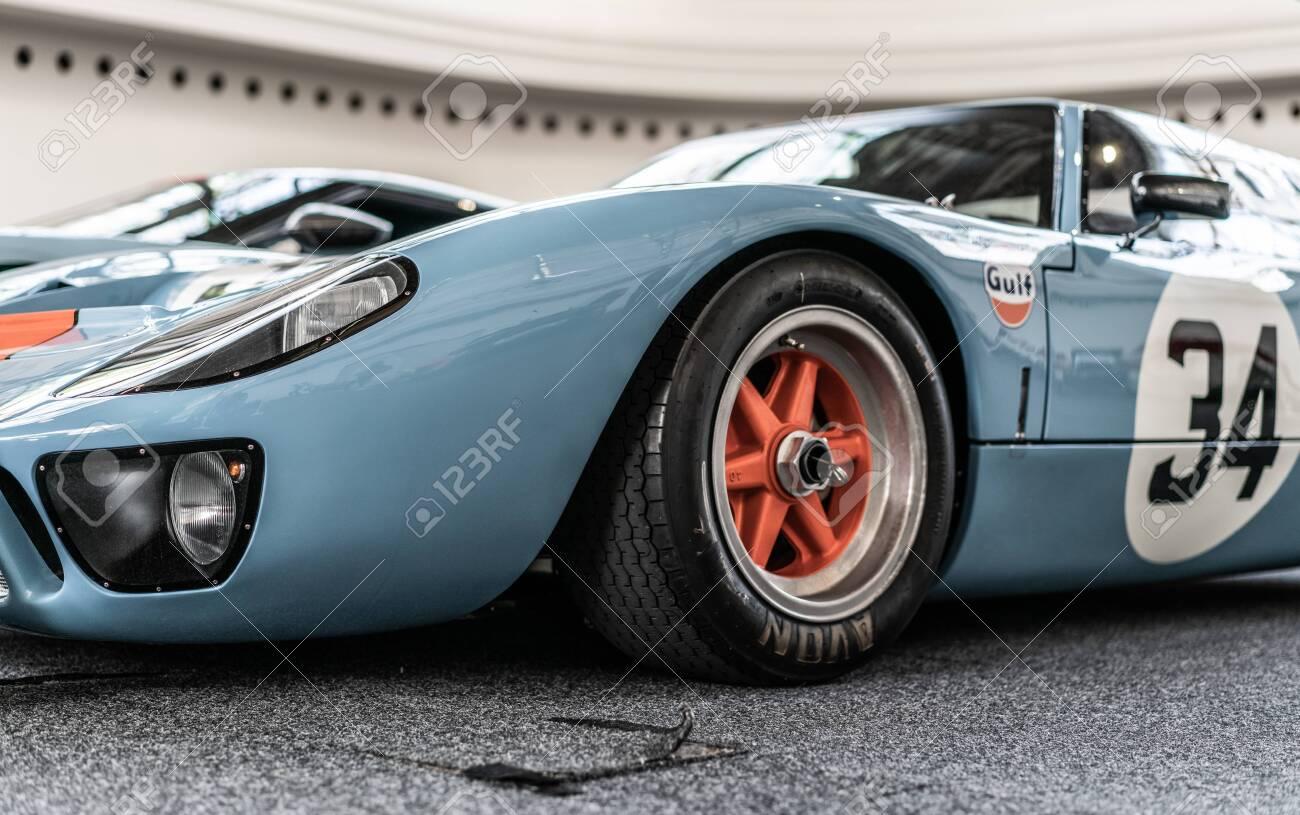 Prague Czech Republic 16 5 2019 Old Ford Gt 40 At Auto Show Stock Photo Picture And Royalty Free Image Image 136919847
