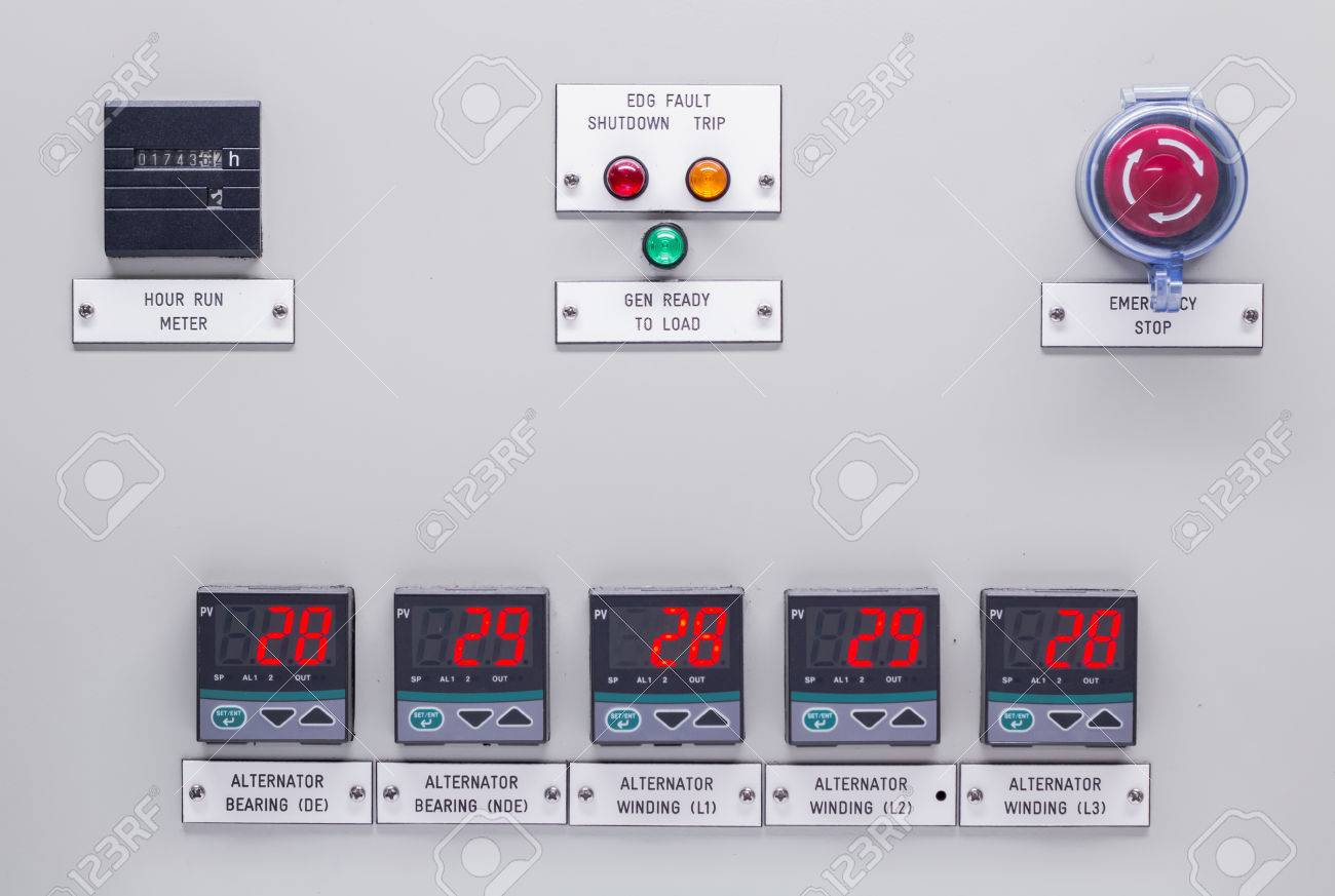 Electrical Control Panel Containing Has A Digital Temperature ...