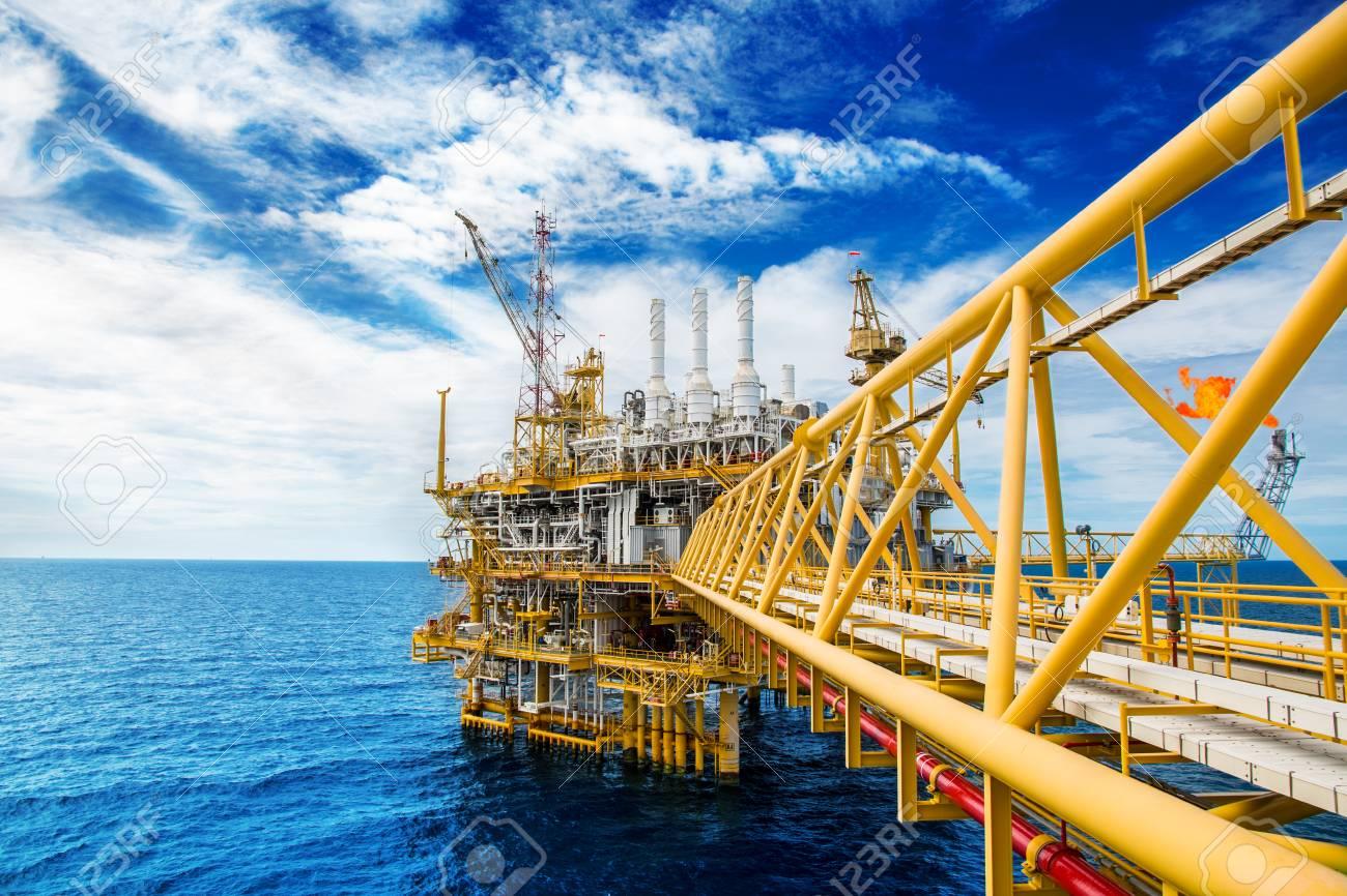 Oil and gas platform or Construction platform  power business