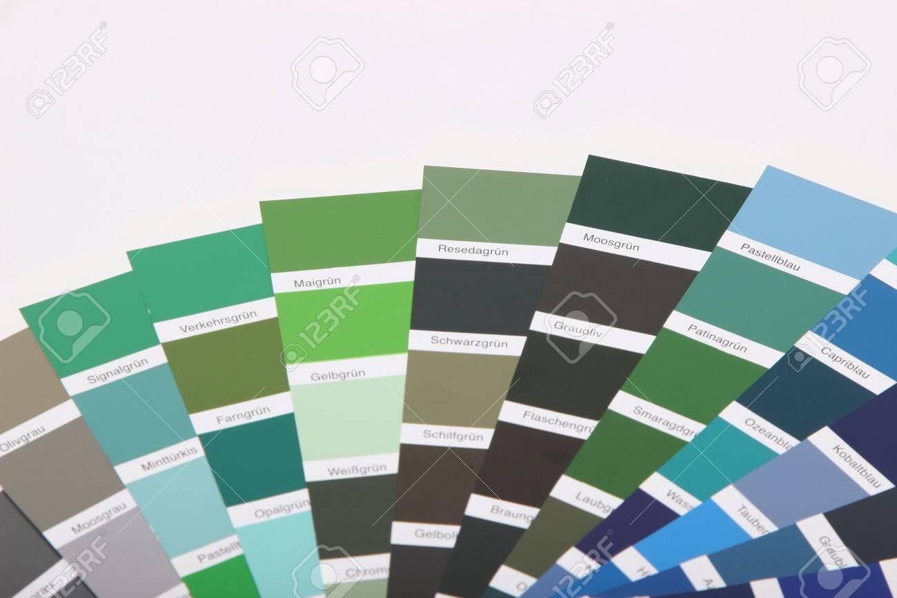 Sammlung Von Ral Farben Auf Weissem Hintergrund Lizenzfreie Fotos