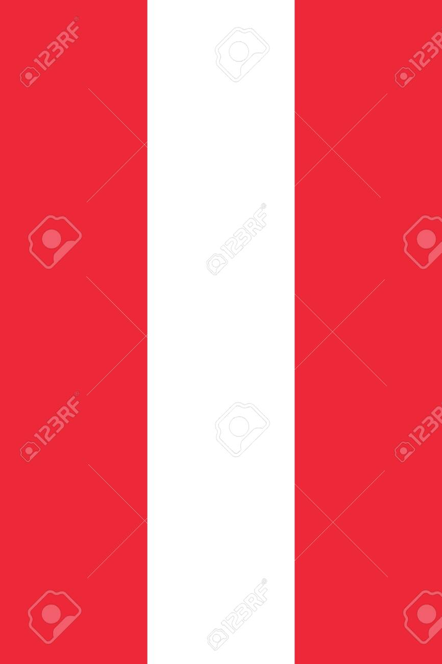 official flag of austria flat large size vertical stock photo