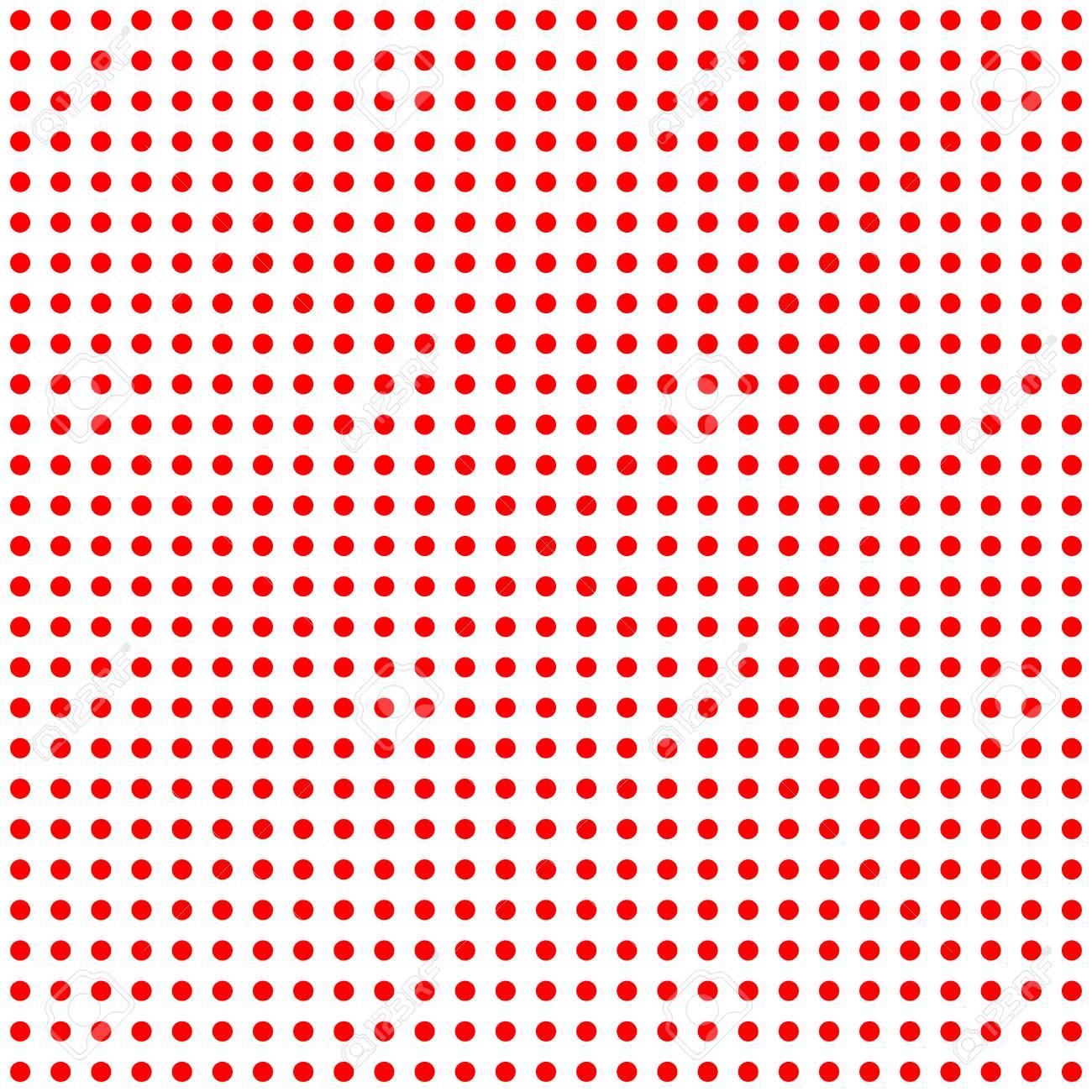 Rote Punkte Auf Weißem Hintergrund Große Nahtlose Muster Lizenzfreie ...