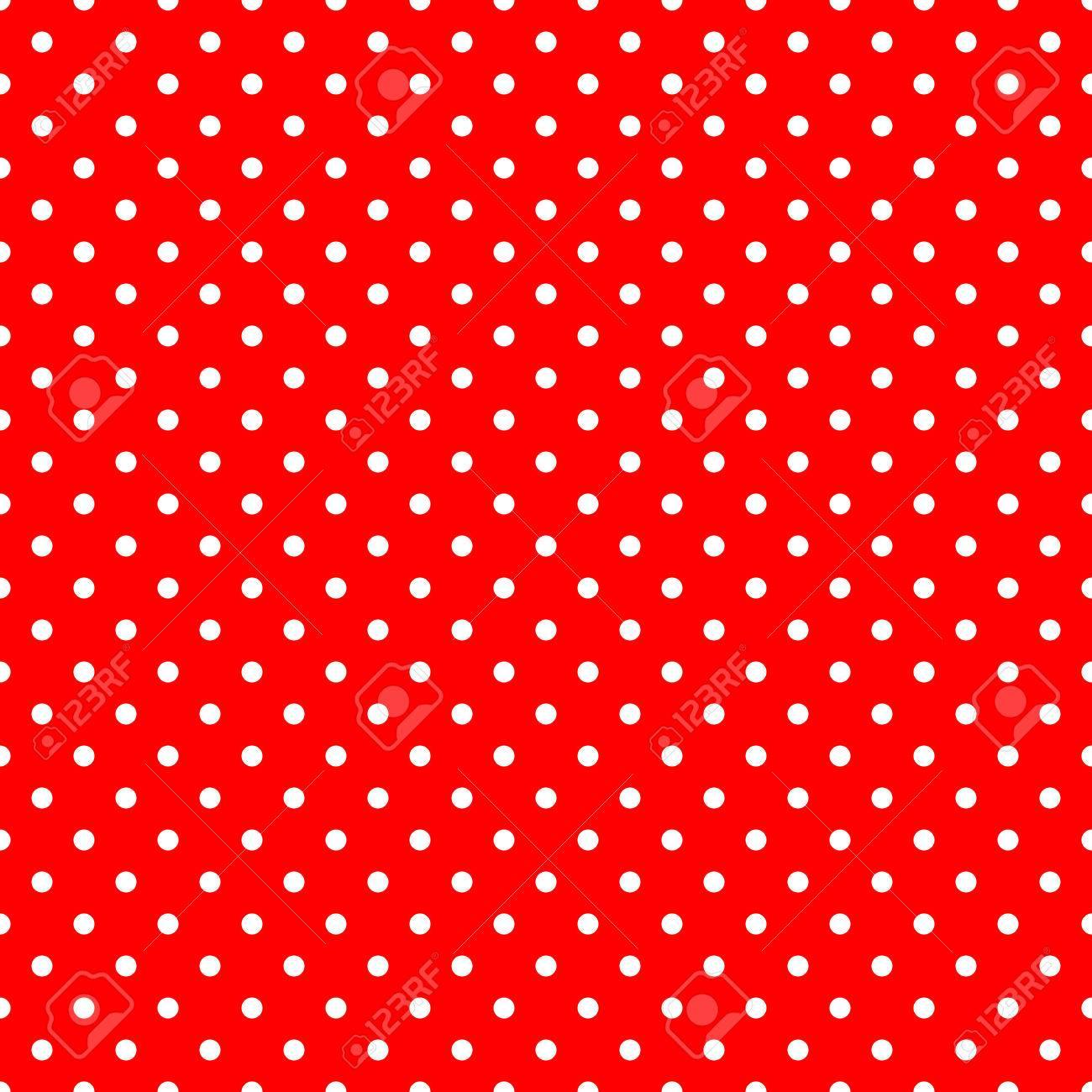 Weiße Tupfen Auf Rotem Hintergrund Große Nahtlose Muster Lizenzfreie ...