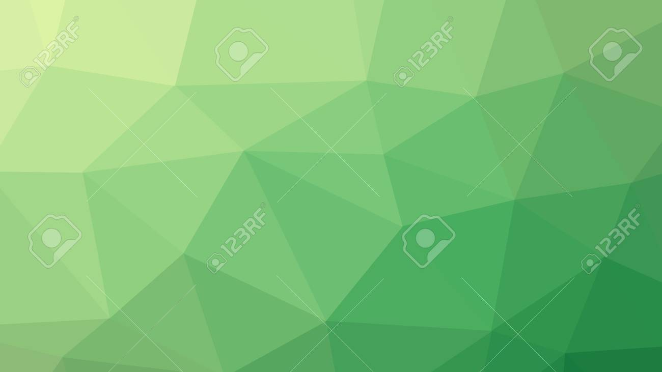 8k resolution abstract triangle low polygon art green color