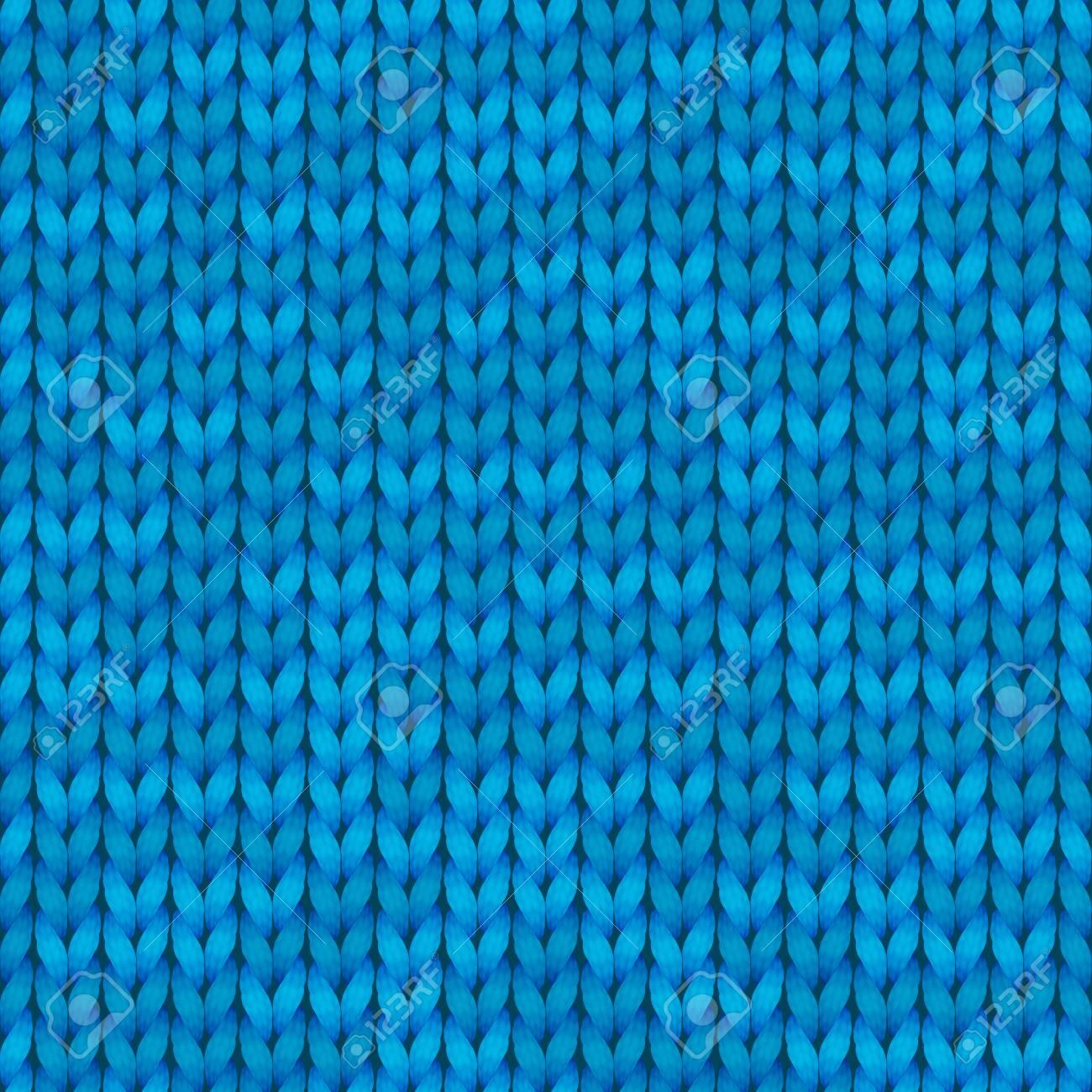 Light Blue Realistic Knit Texture Seamless Pattern Seamless