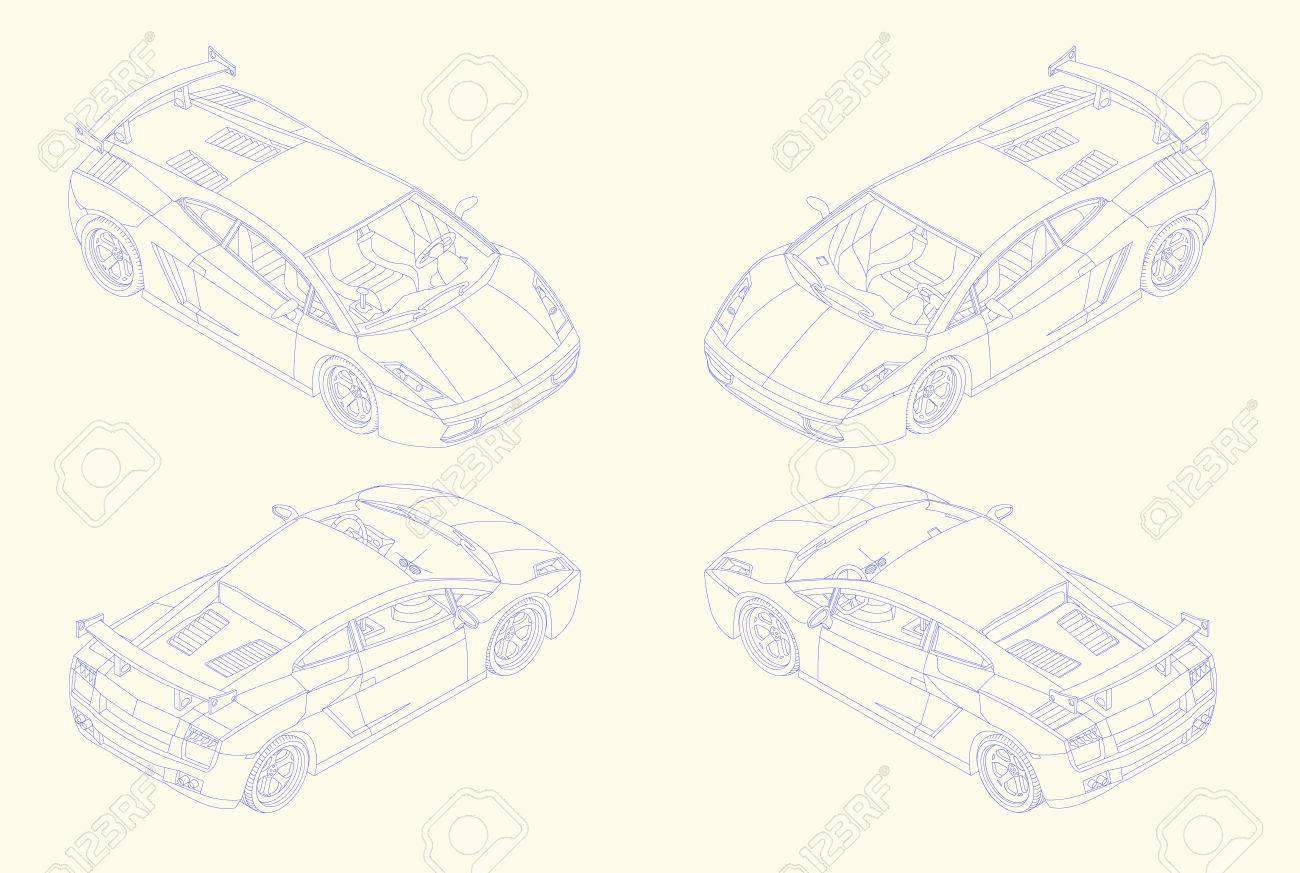 Line Drawing Of Car : Continuous line drawing turtle car stock vector