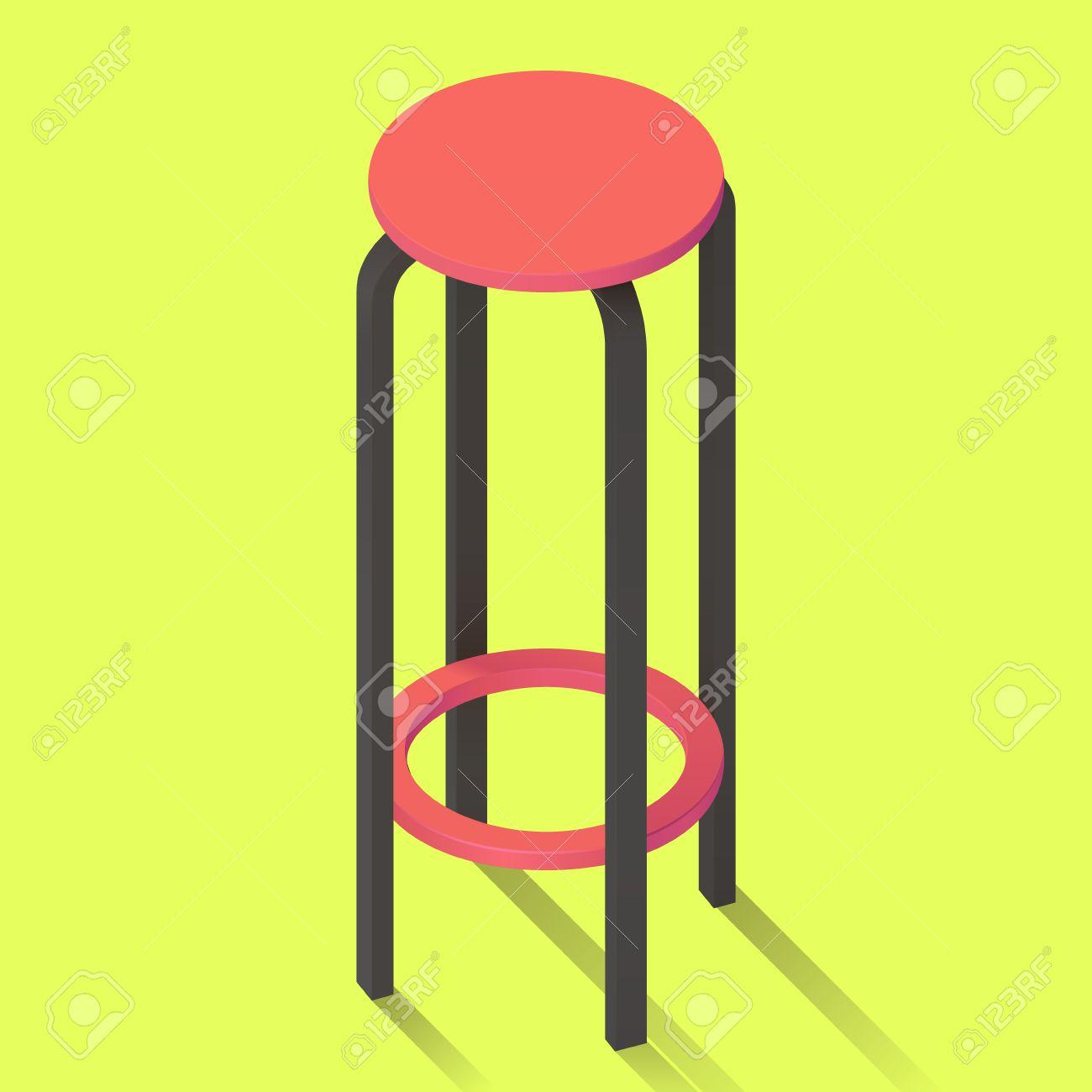 isométriquepub Chaise de en de tabouret perspective haut siègeisoléfond icône bar vecteur vue Yfgy7b6