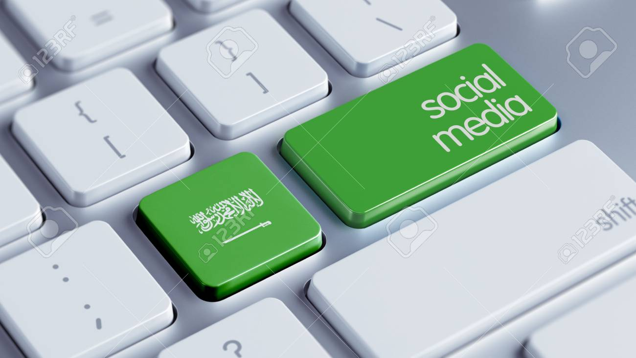Saudi Arabia High Resolution Social Media Concept