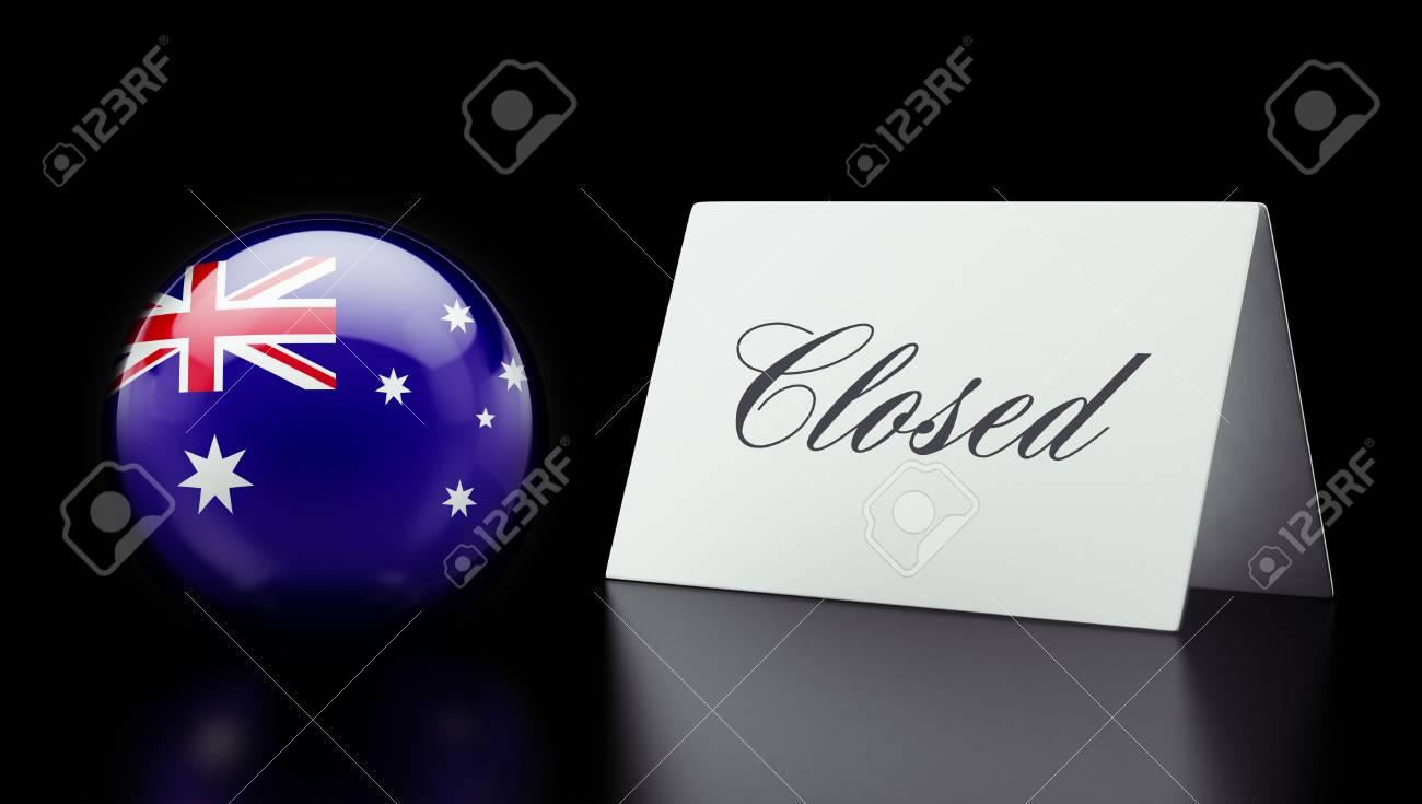 Australia High Resolution Closed Concept Stock Photo - 28843225
