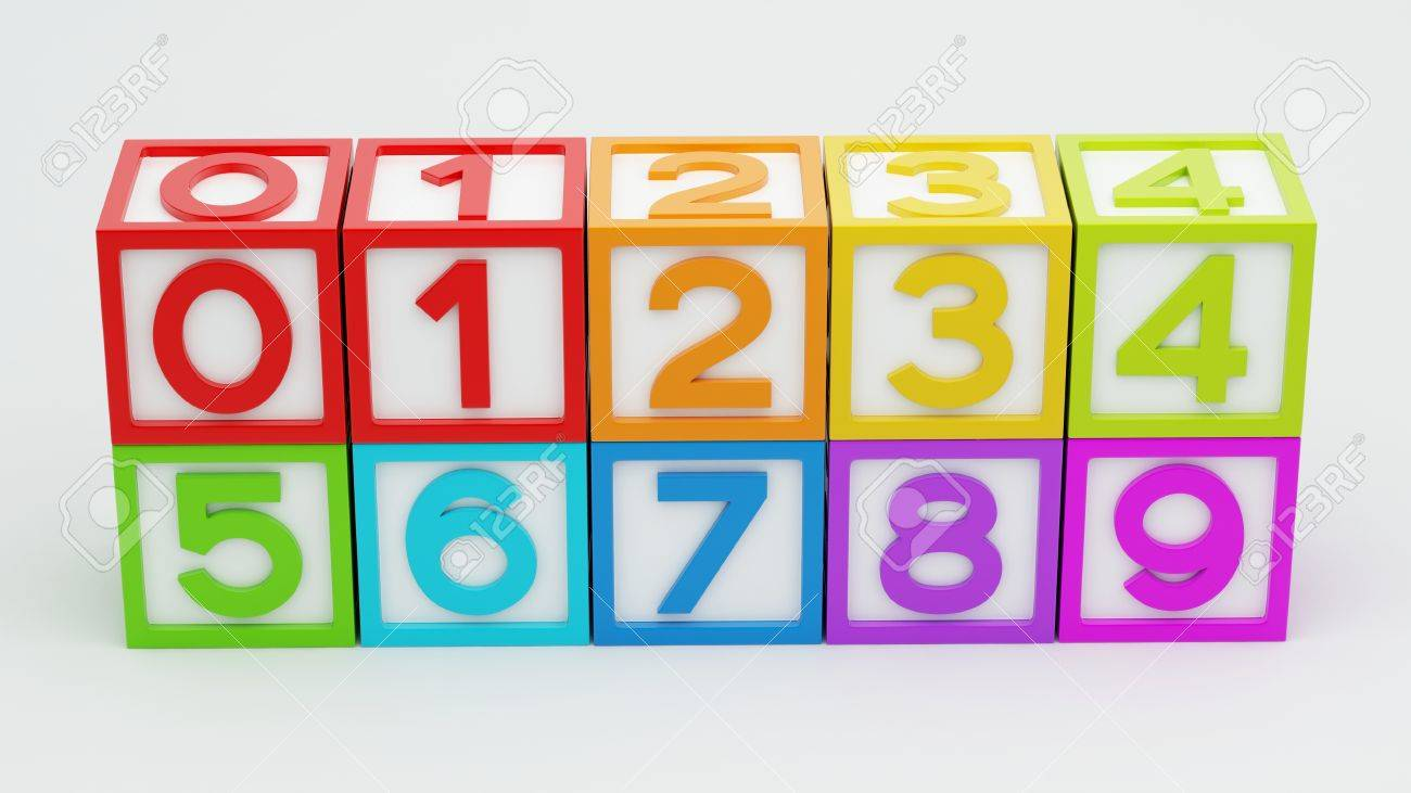 Box Number Toy isolated on white background Stock Photo - 29050127