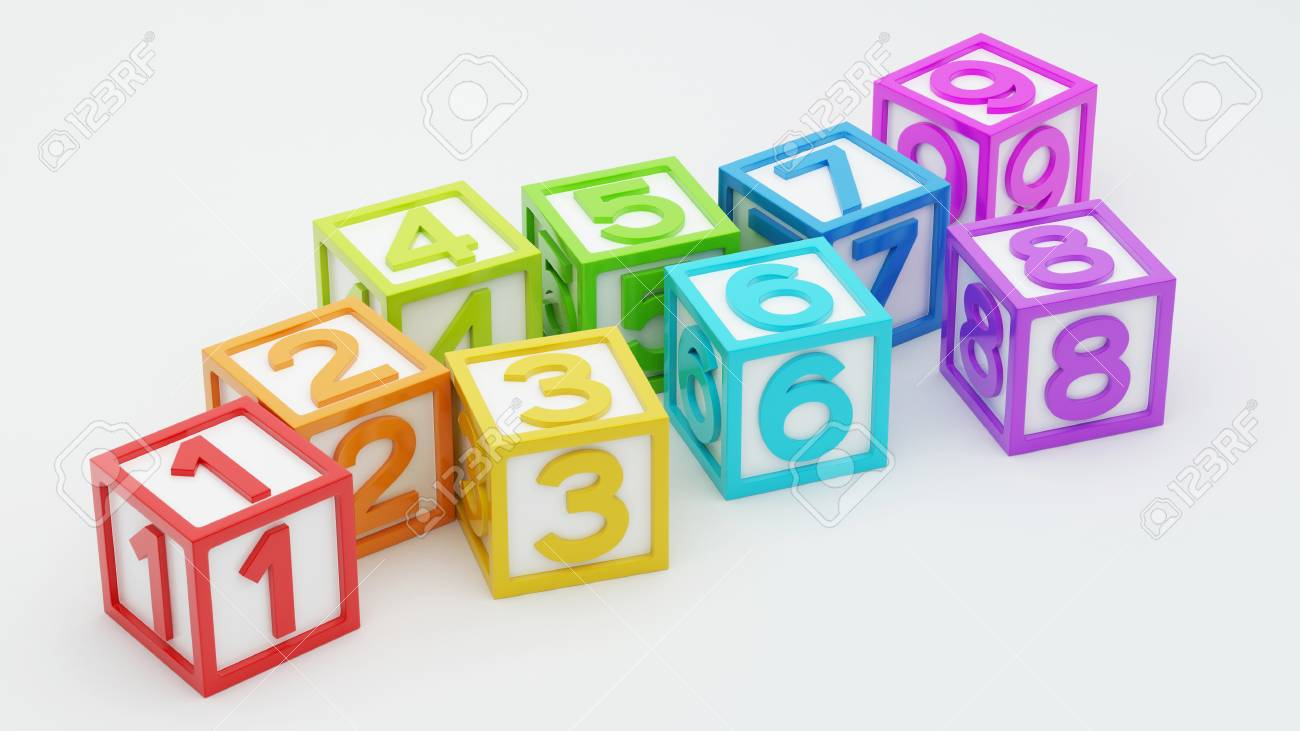 Box Number Toy isolated on white background Stock Photo - 29050132