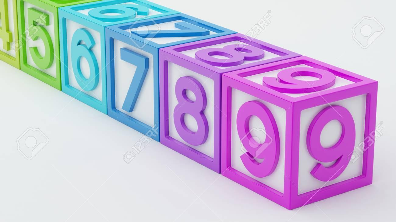Box Number Toy isolated on white background Stock Photo - 29050135