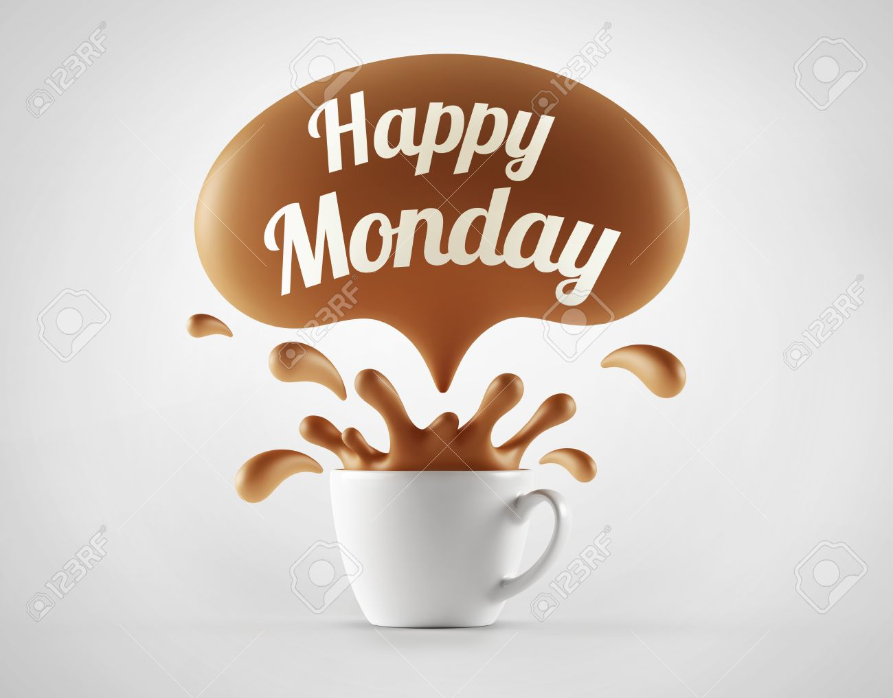 Wonderful happy monday coffee inscription in to decorating picture happy monday coffee voltagebd Gallery