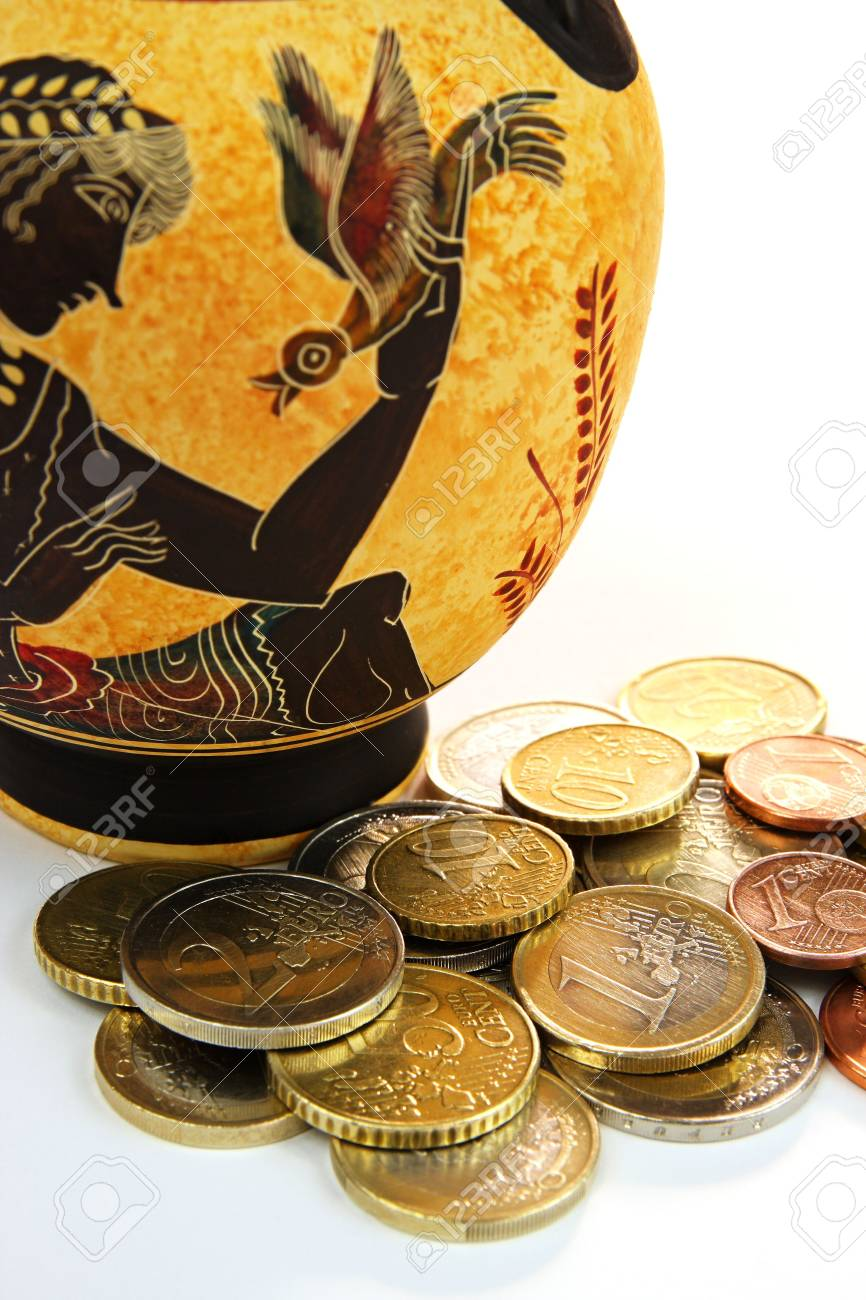Amphora with coins Stock Photo - 6366644