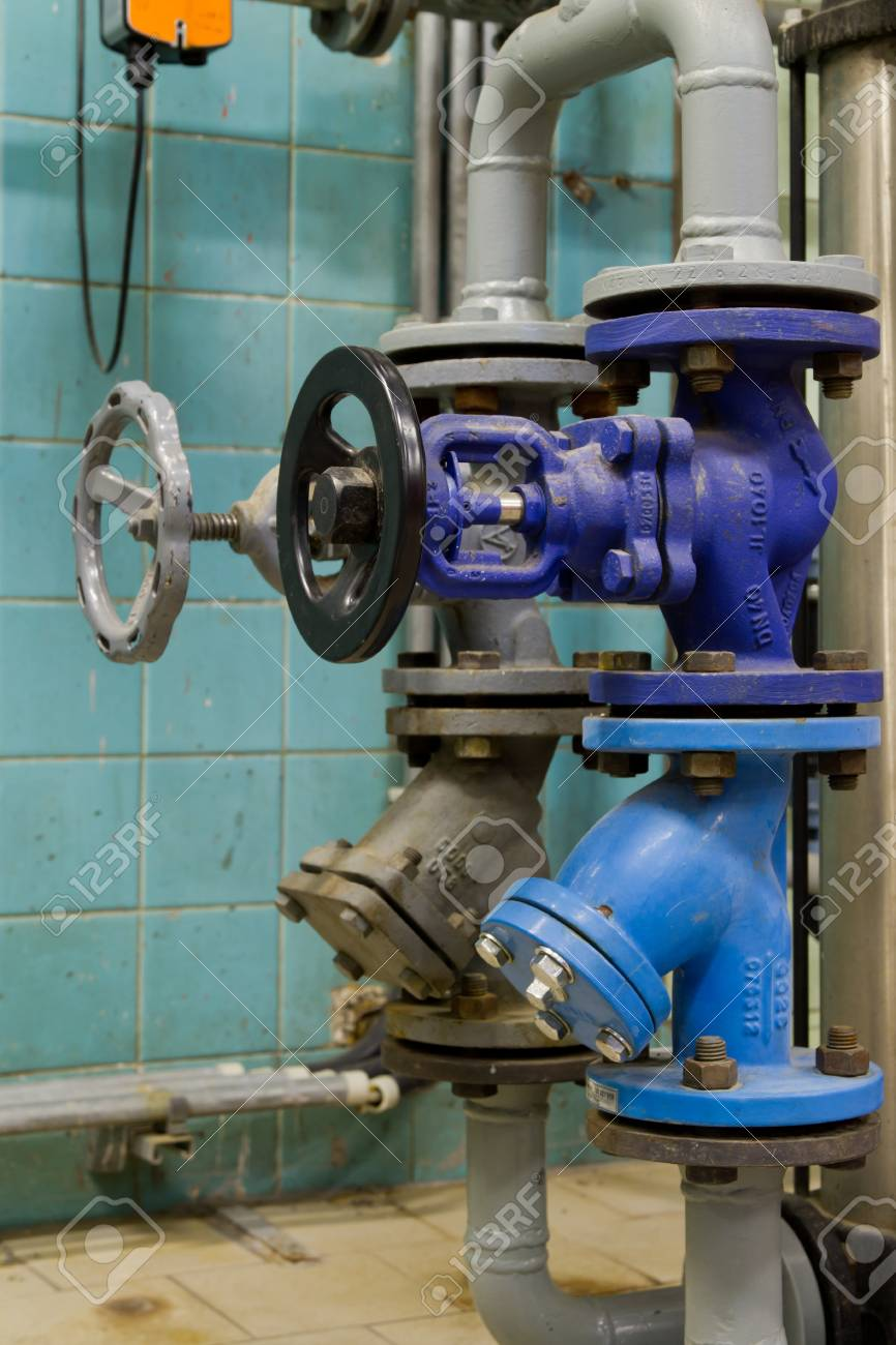 Pressure Valves In Gas Boiler Room Stock Photo, Picture And Royalty ...