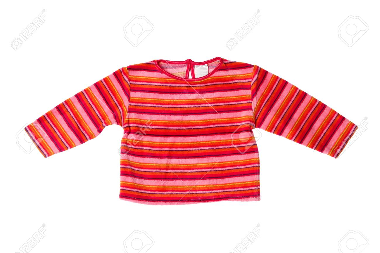 ce269afdf08c Girls Fleece Jacket On White Background Stock Photo