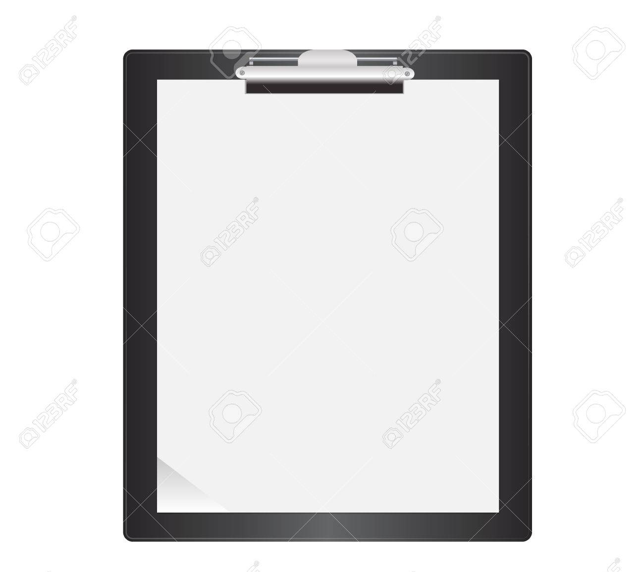 Black Clipboard  Isolated with blank paper Stock Vector - 16899199