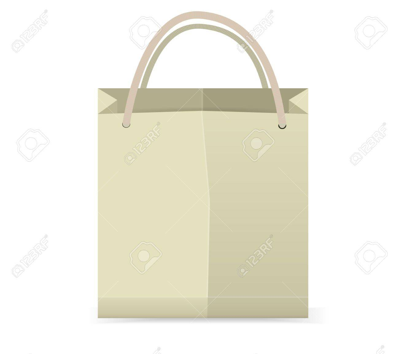 Shopping Bag Vector ,You Can Add Text Or Symbol On Blank Space ...