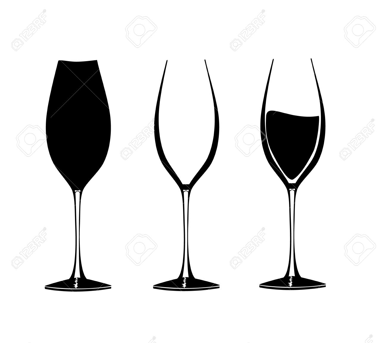 wine glasses in graphic for use in party or restaurant artwork rh 123rf com wine vector free download wine vector art