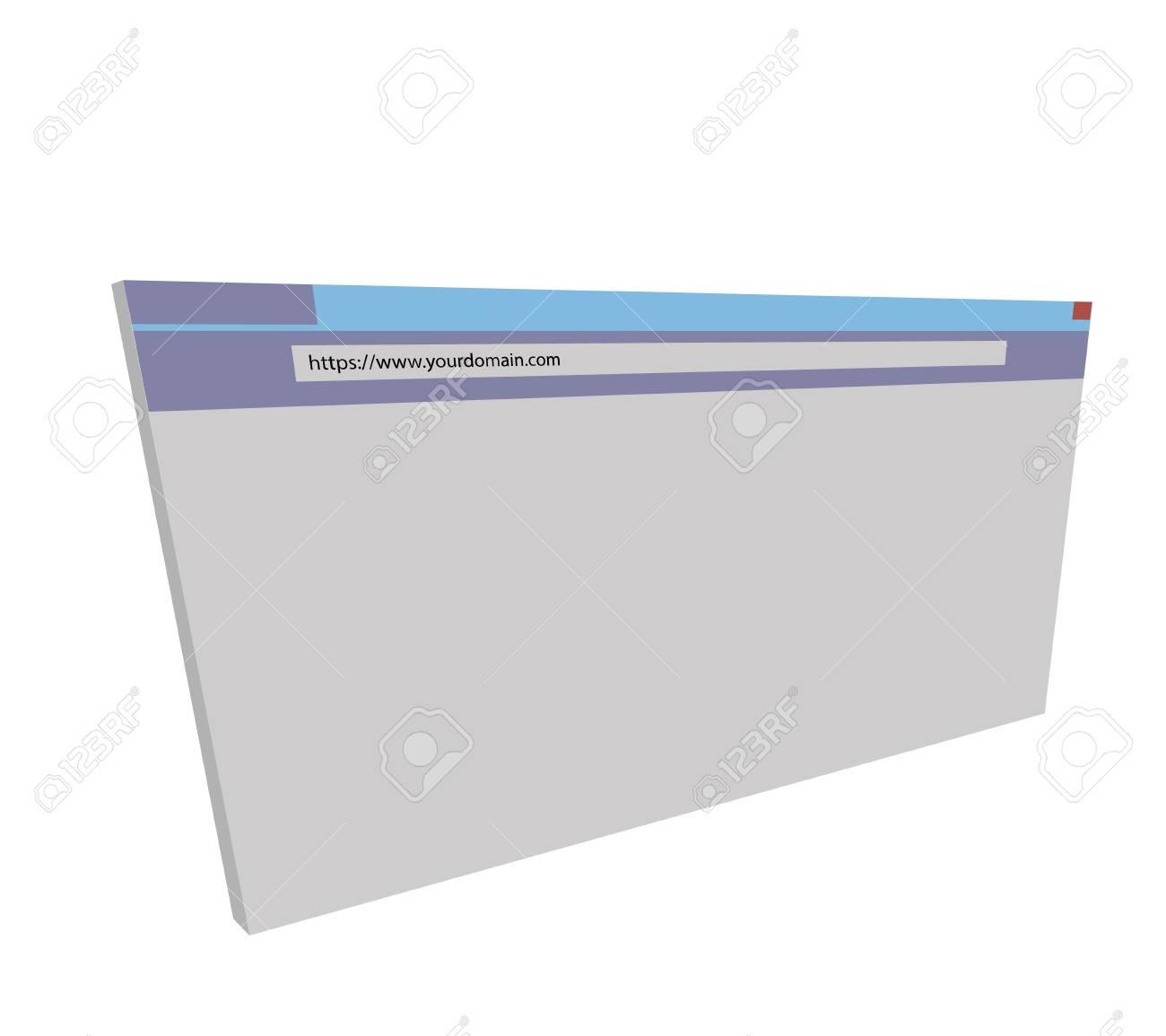 Internet address 3D Browser Stock Vector - 17695017