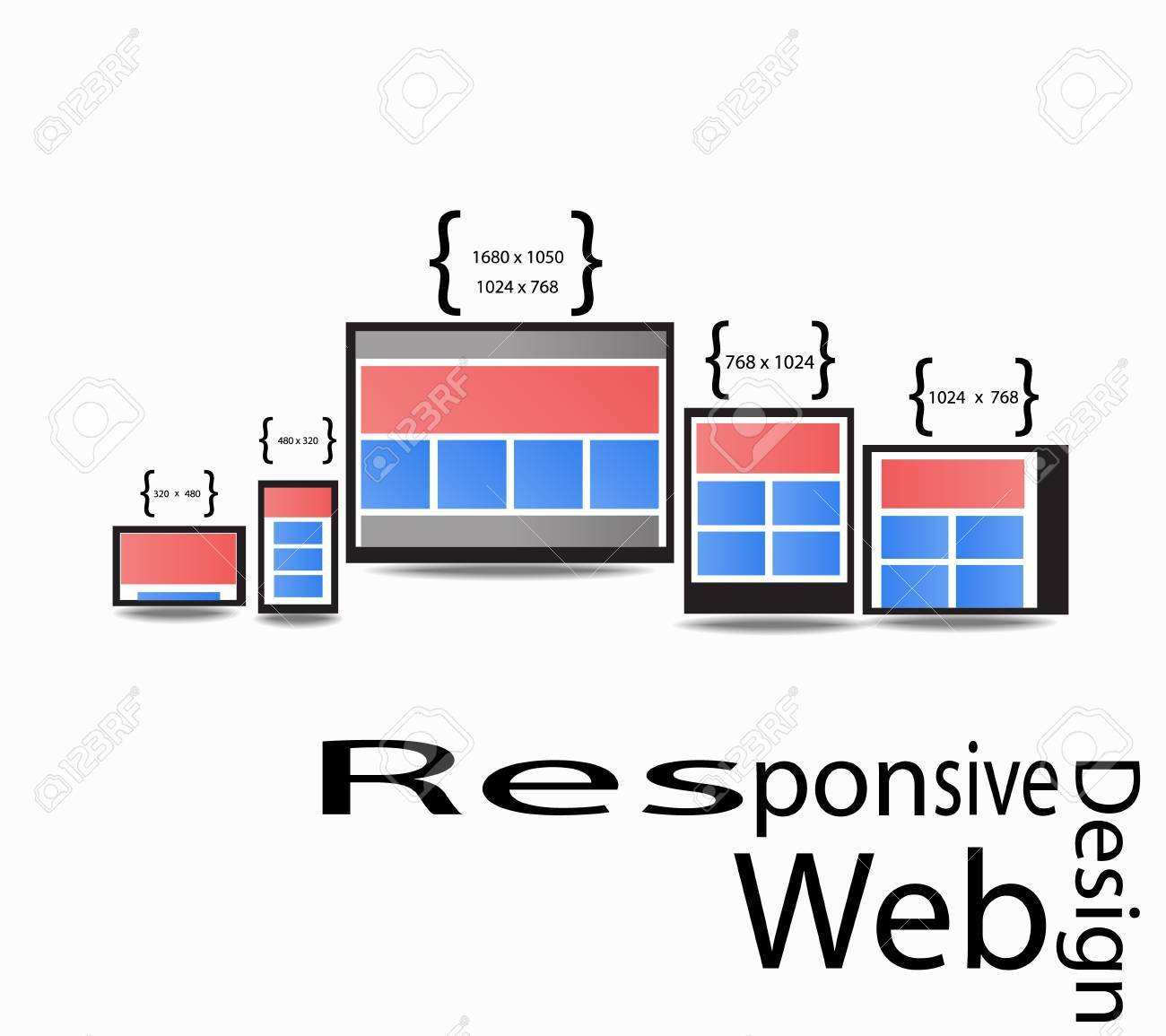 Responsive Web Design Display Size for Device in graphic - 18022673