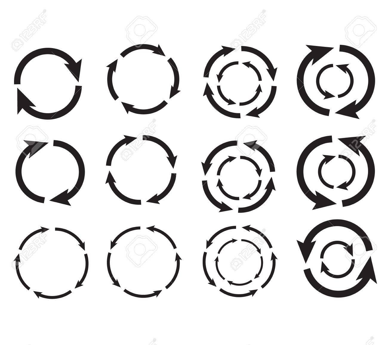 Arrow circle graphic design vector eps10 - 18302351