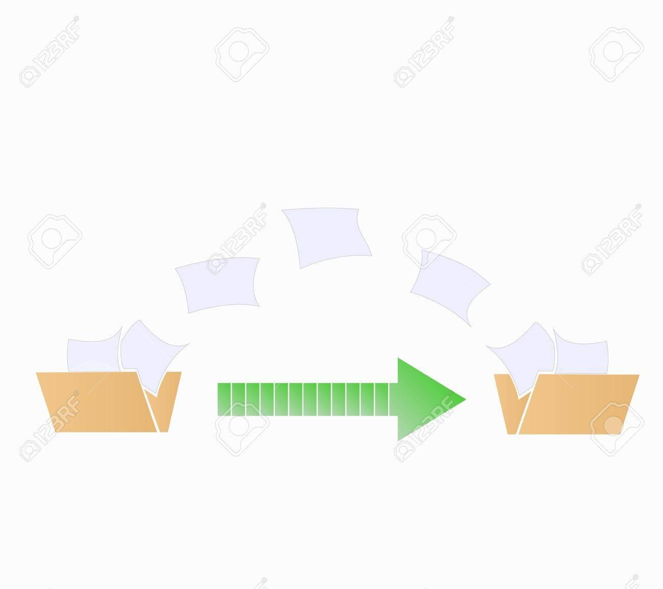 file transfer data graphic Stock Vector - 18381422