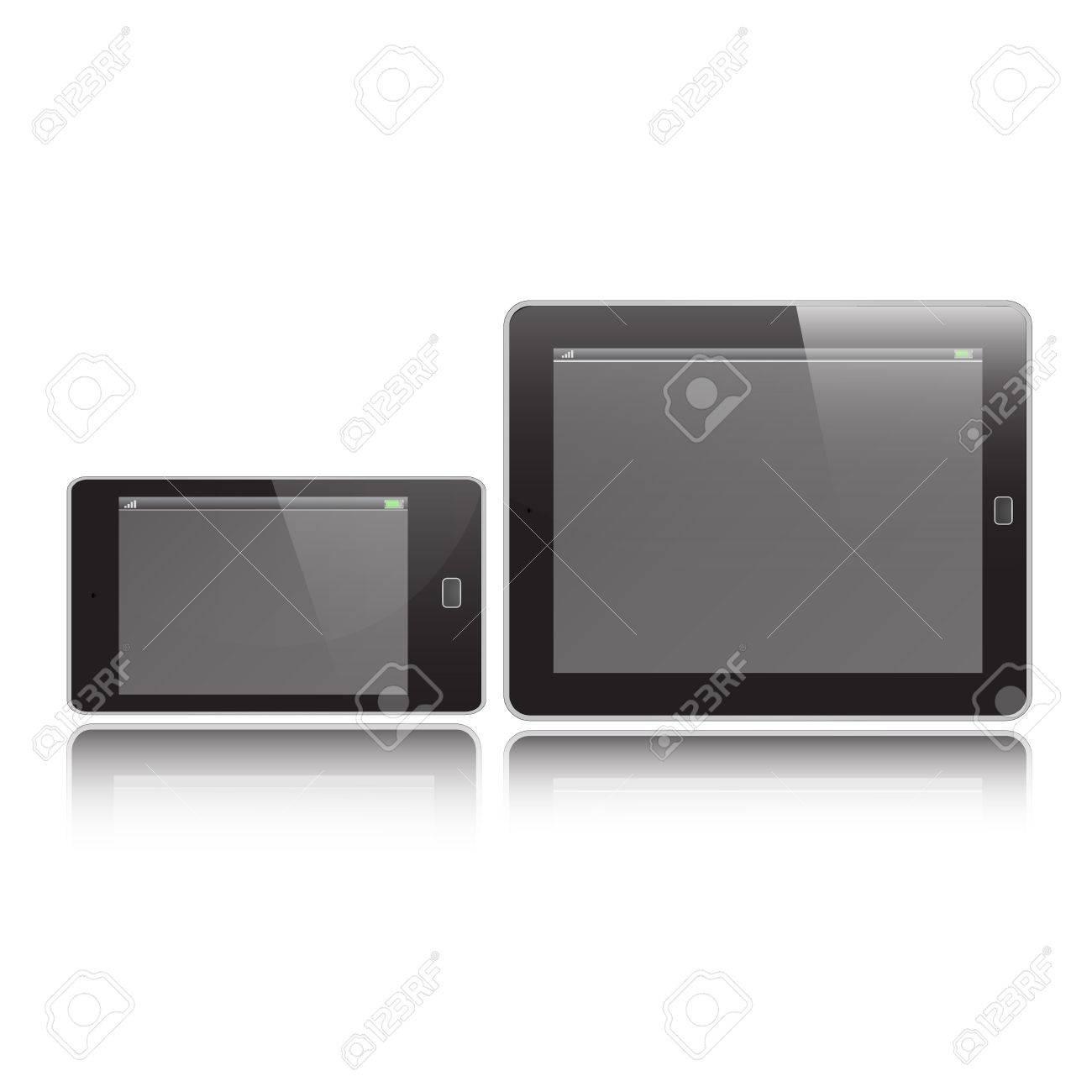 ็Horizontal Tablet and Mobile graphic vector eps10 Stock Vector - 18496156