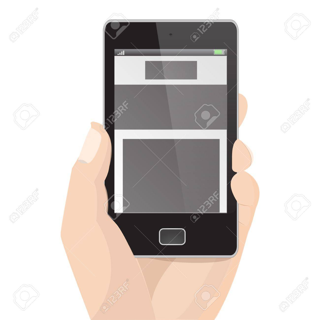 Responsive Layout Vertical Display Mobile Phone Graphic Stock Vector - 18542454