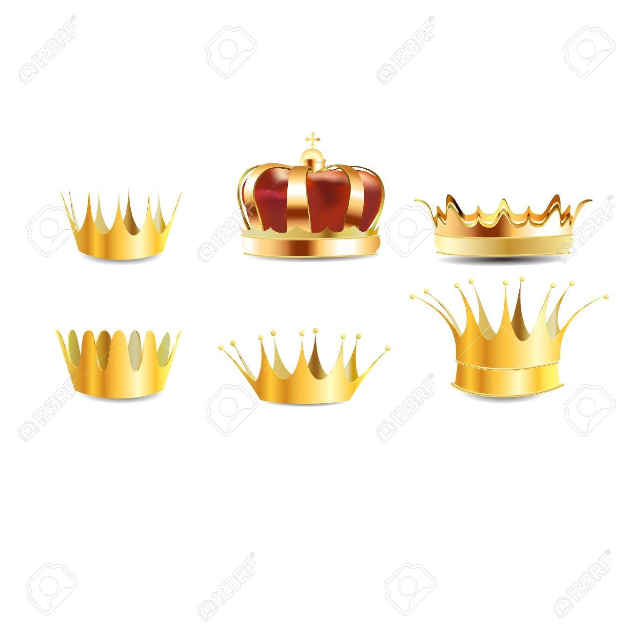 realistic gold heraldic crown embedded or coronet graphic - 22858939