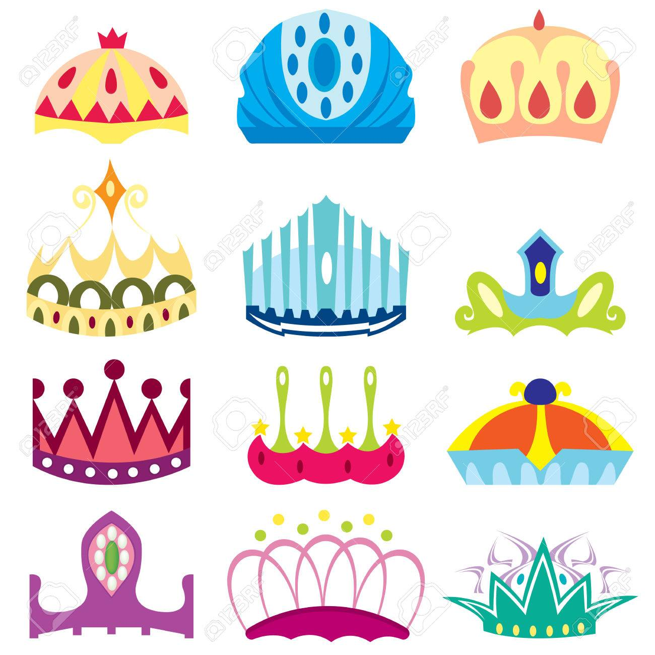 Cartoon Crown With Gems Isolated On White Background Royalty Free Cliparts Vectors And Stock Illustration Image 26081364 Brand logo white font, silver crown, silver crown png clipart. 123rf com