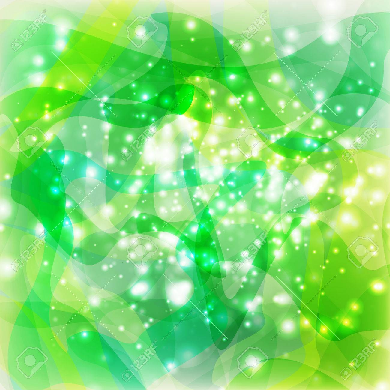 abstract green lights - 66619012