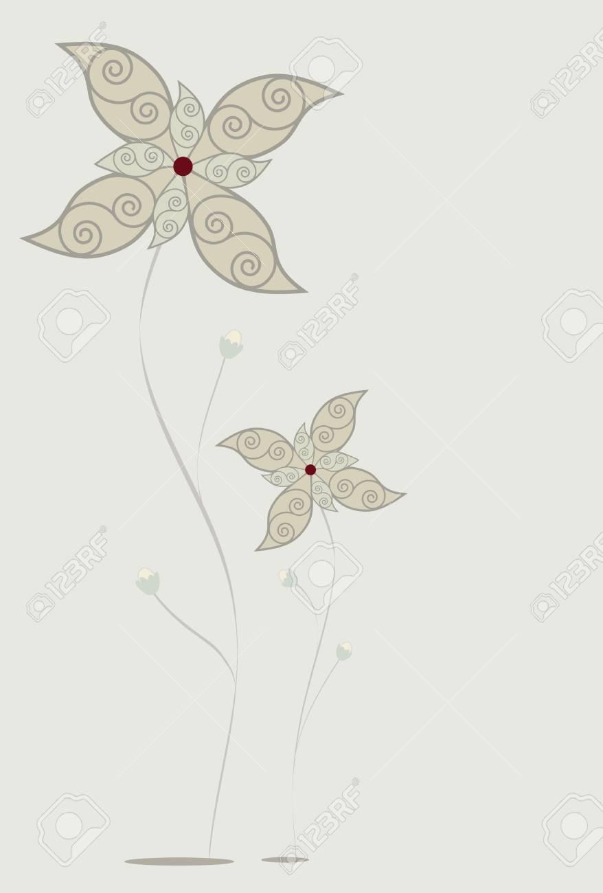 Pastel flowers. Stock Vector - 4715015