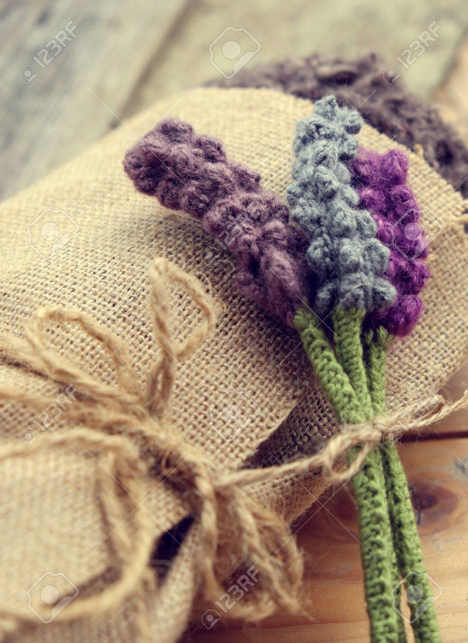 Handmade Gift For Mother Day Or Valentine Day, Knitted Lavender ...