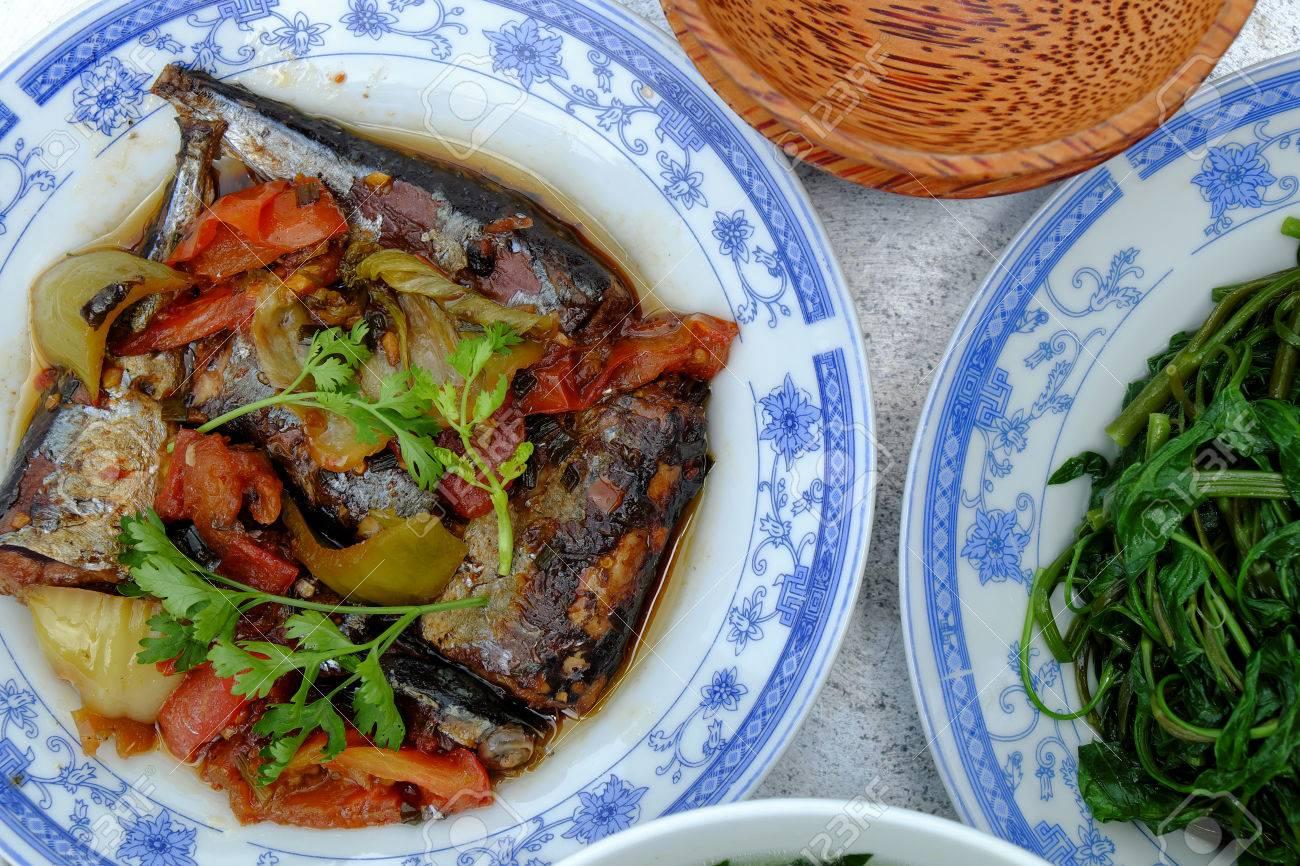 Cuisine Vietnamienne La Sauce De Poisson Bouillie De Legumes Et