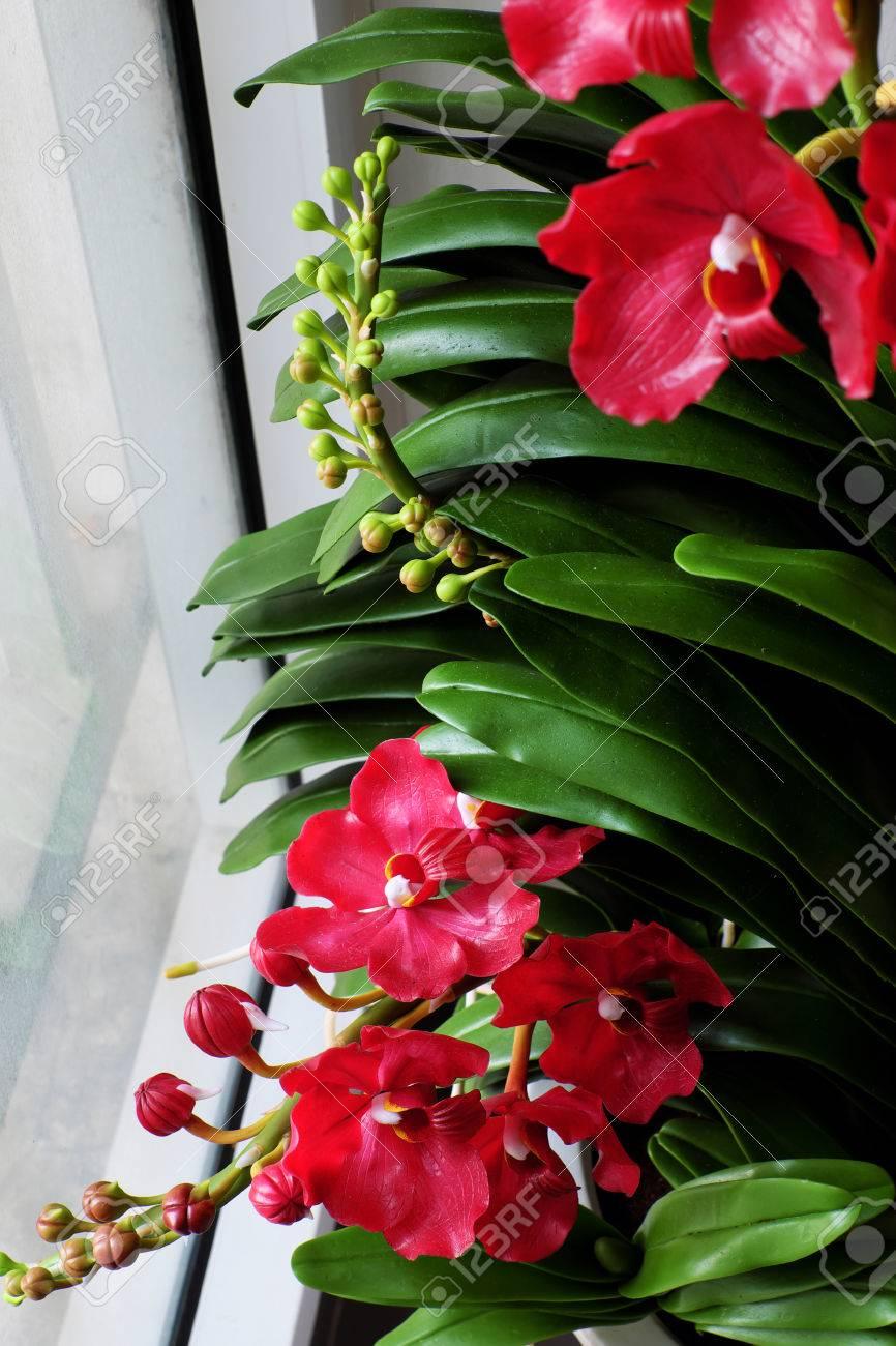 Legance Fait A La Main De L Art D Argile Vanda Orchidee Pot Sur