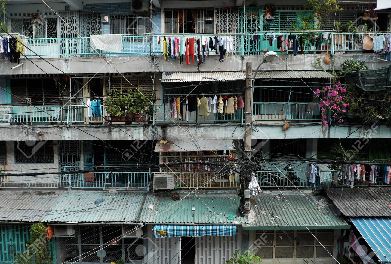 HO CHI MINH CITY, VIET NAM- APRIL 20, 2017: Facade Building Of ...