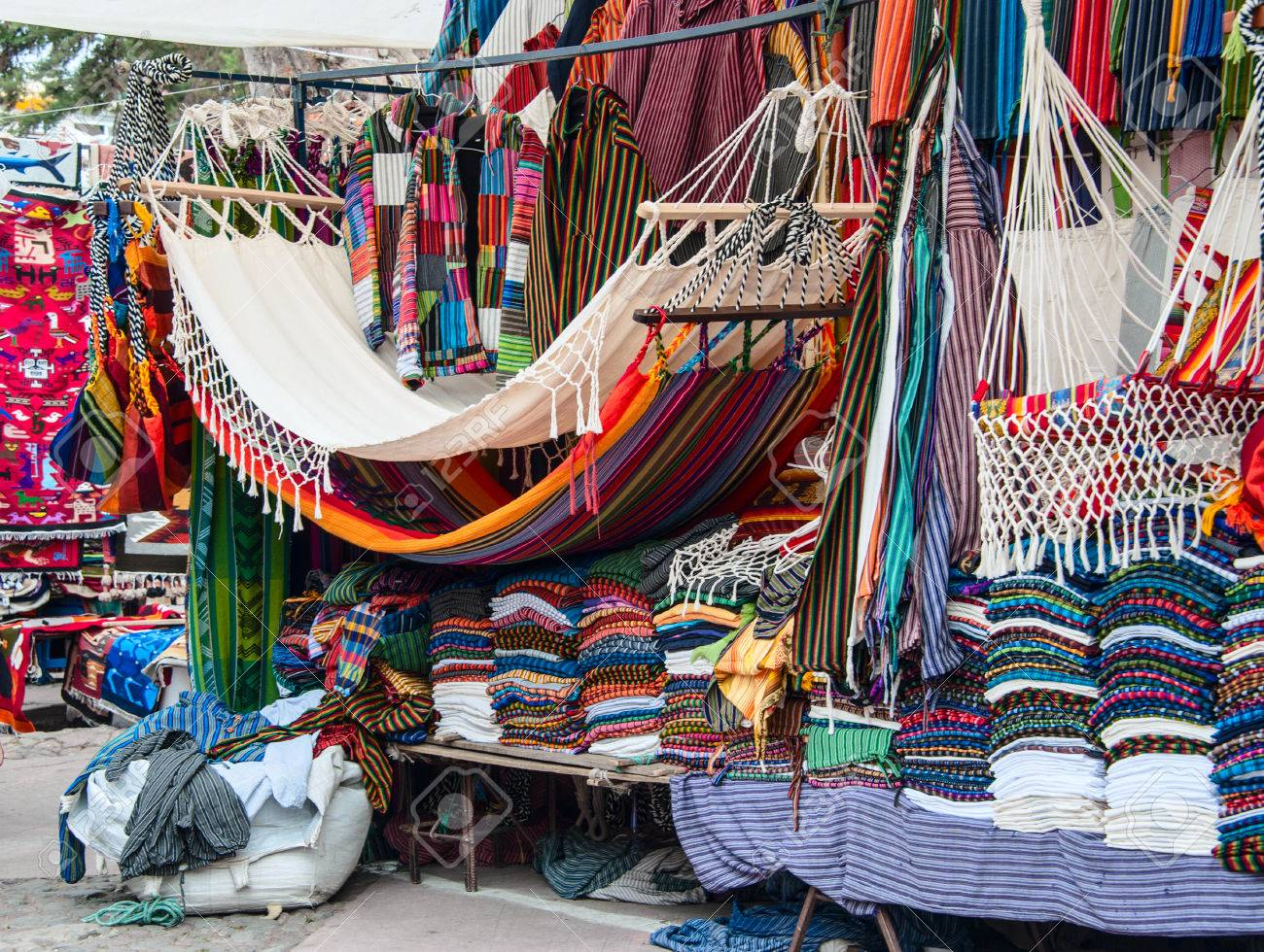 famous indian market in otavalo imbabura ecuador south america