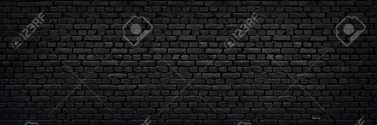 Texture Of A Perfect Black Brick Wall As Background Or Wallpaper Stock Photo Picture And Royalty Free Image Image 141371076