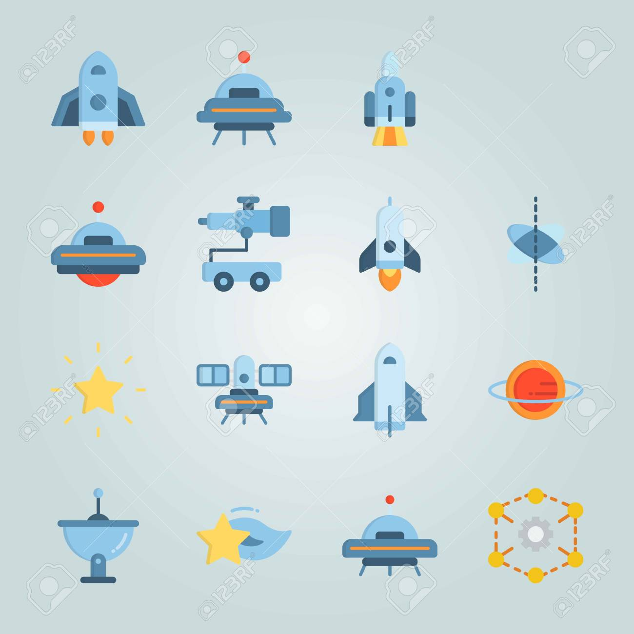 Icon set about universe with red diagram and space craft royalty icon set about universe with red diagram and space craft imagens 94709276 ccuart Choice Image