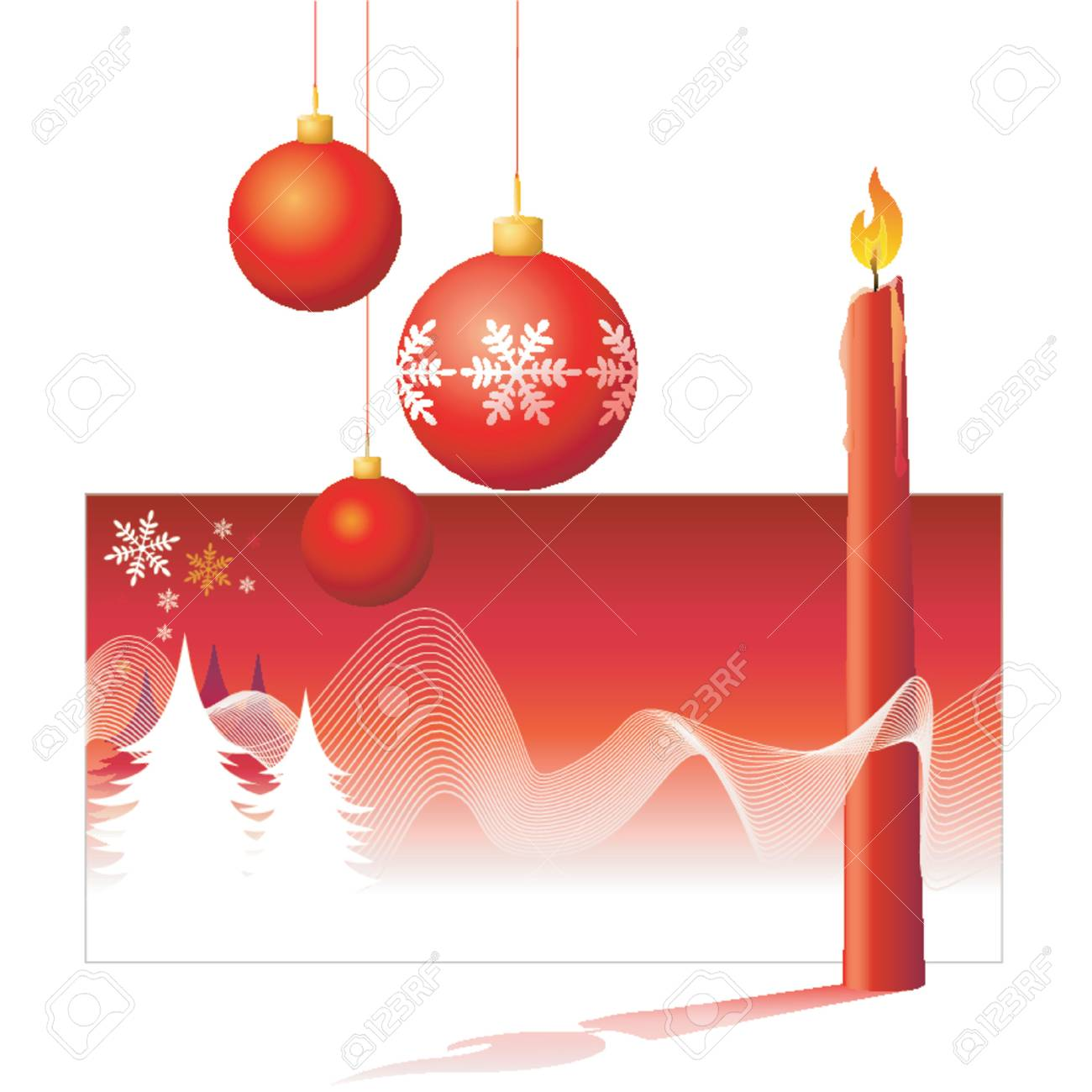 Christmas Decorations - Vector! Stock Vector - 623014