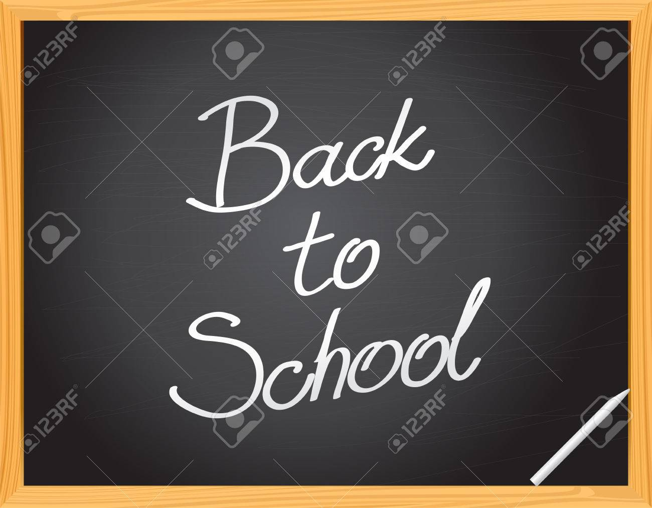 Vector Blackboard -  - Back to School Stock Vector - 5327180